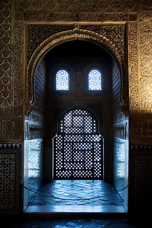 window alhambra granada spain